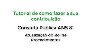 PARTICIPE DA CONSULTA PÚBLICA Nº 81 DA ANS PARA RETOCOLITE ULCERATIVA